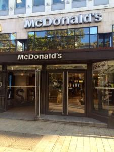 Where we had our breakfast- Mcdonald's Champs Elysees.